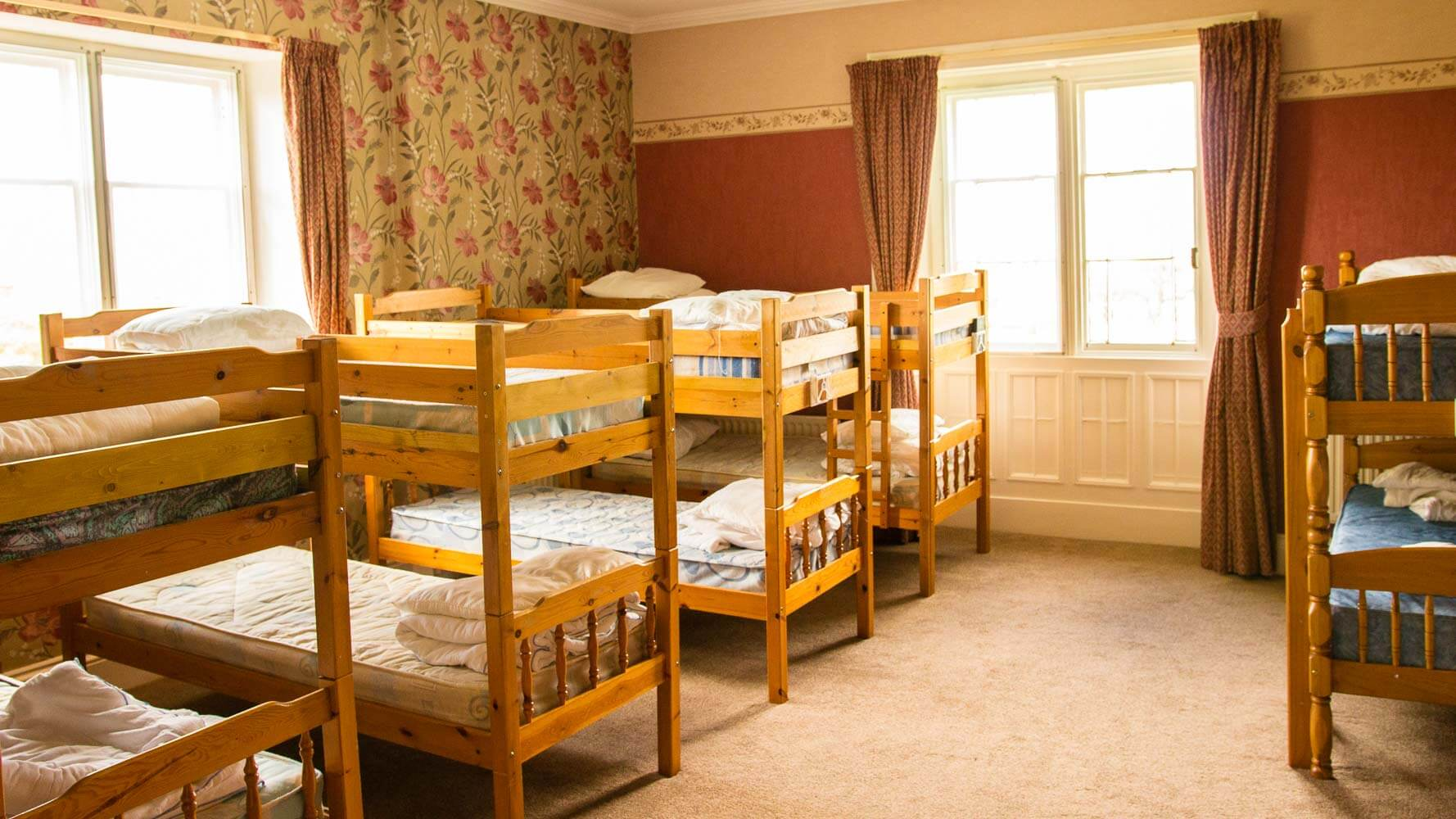 Dormitory style bedroom.